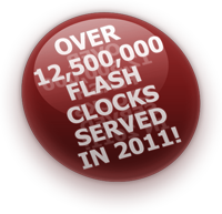 Over 12,500,000 Flash clocks served in 2011!