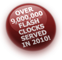 Over 9,000,000 free Flash clocks served in 2010!