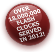 Over 12.5 million Flash clocks served in 2011