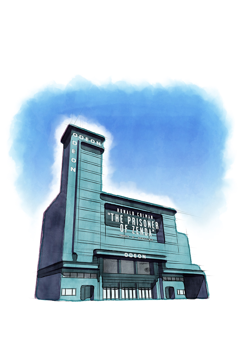 ODEON Leicester Square Watercolour