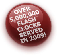 Over 5,000,000 Flash clocks served in 2008!