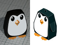 Free cut'n'fold penguin model